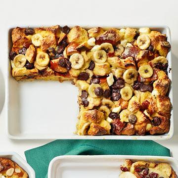 Banana-Chocolate Chip Strata