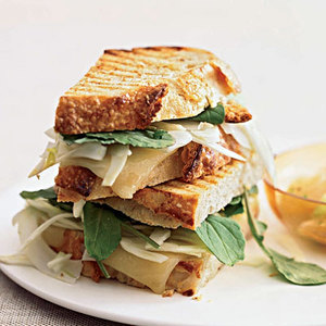 Grilled Cheese Sandwiches with Spicy Grapefruit Salad
