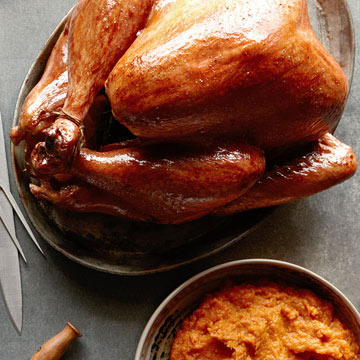 Herb Butter Turkey with Cranberry-Grapefruit Sauce