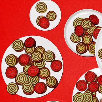 Chocolate-Peppermint Yule Log Sprials