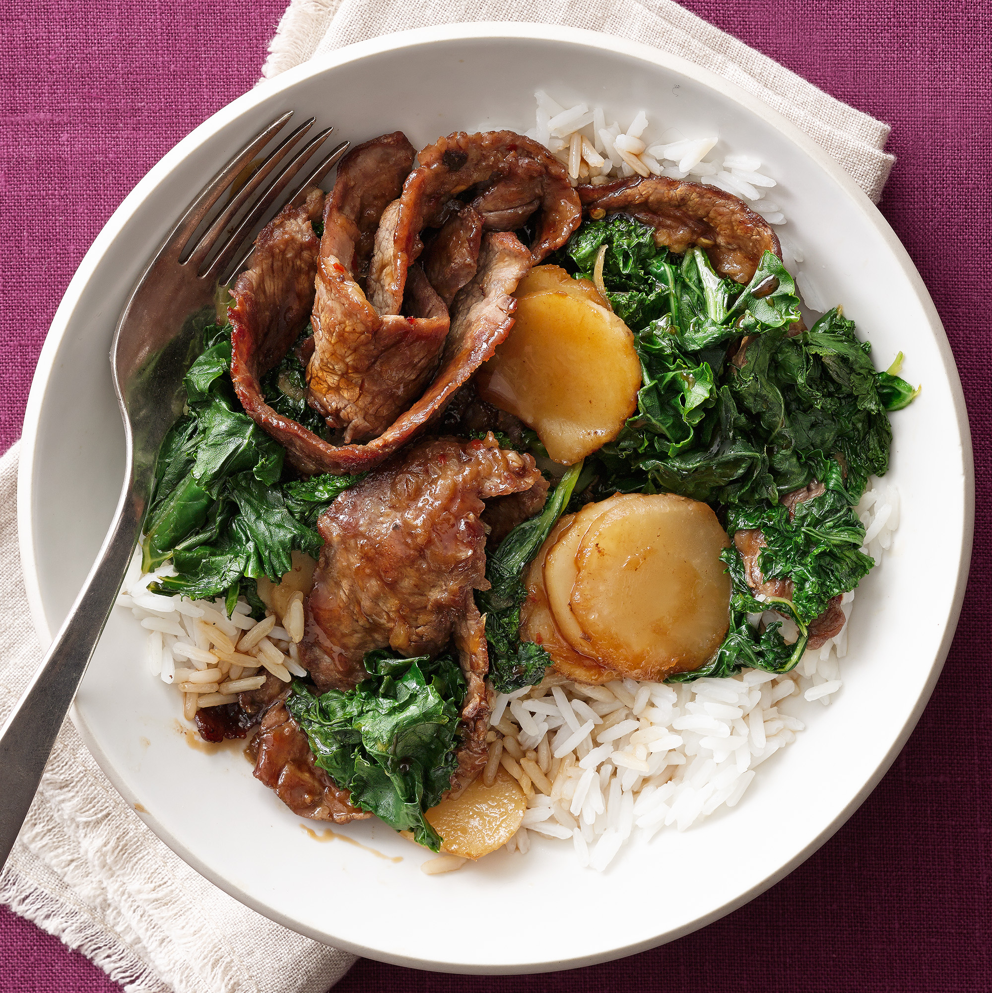 Beef and Kale Stir-Fry