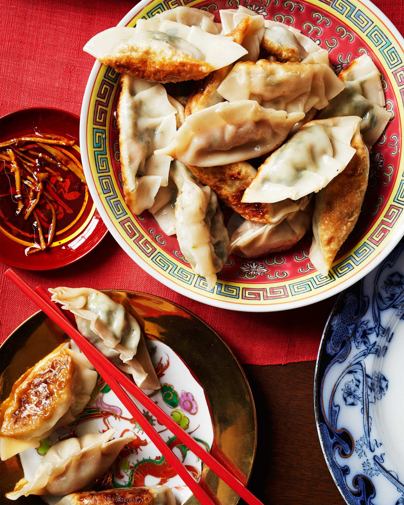 Chinese Dumplings with Edamame & Shiitake Filling