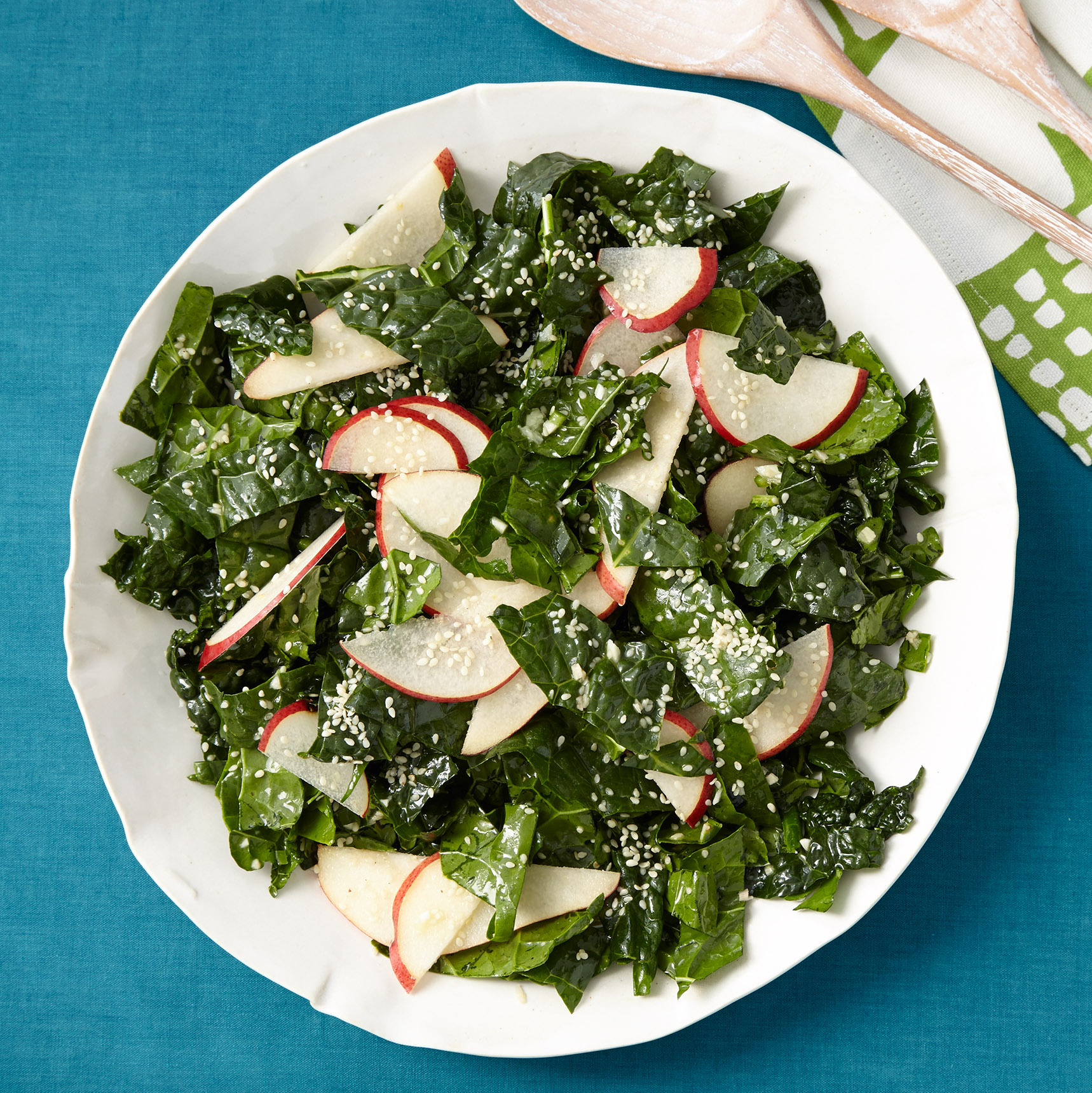 Kale, Pear & Sesame Salad