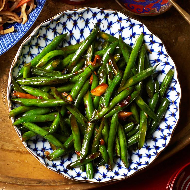 Stir-Fried Green Beans with Garlic & Oyster Sauce