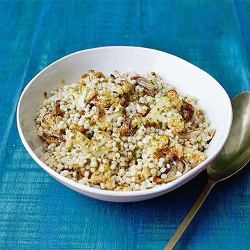 Roasted Cauliflower with Couscous & Mint