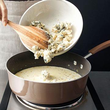 Step 3, Add the Gorgonzola