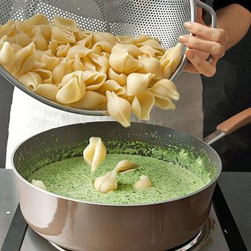 Step 6, Add the pasta