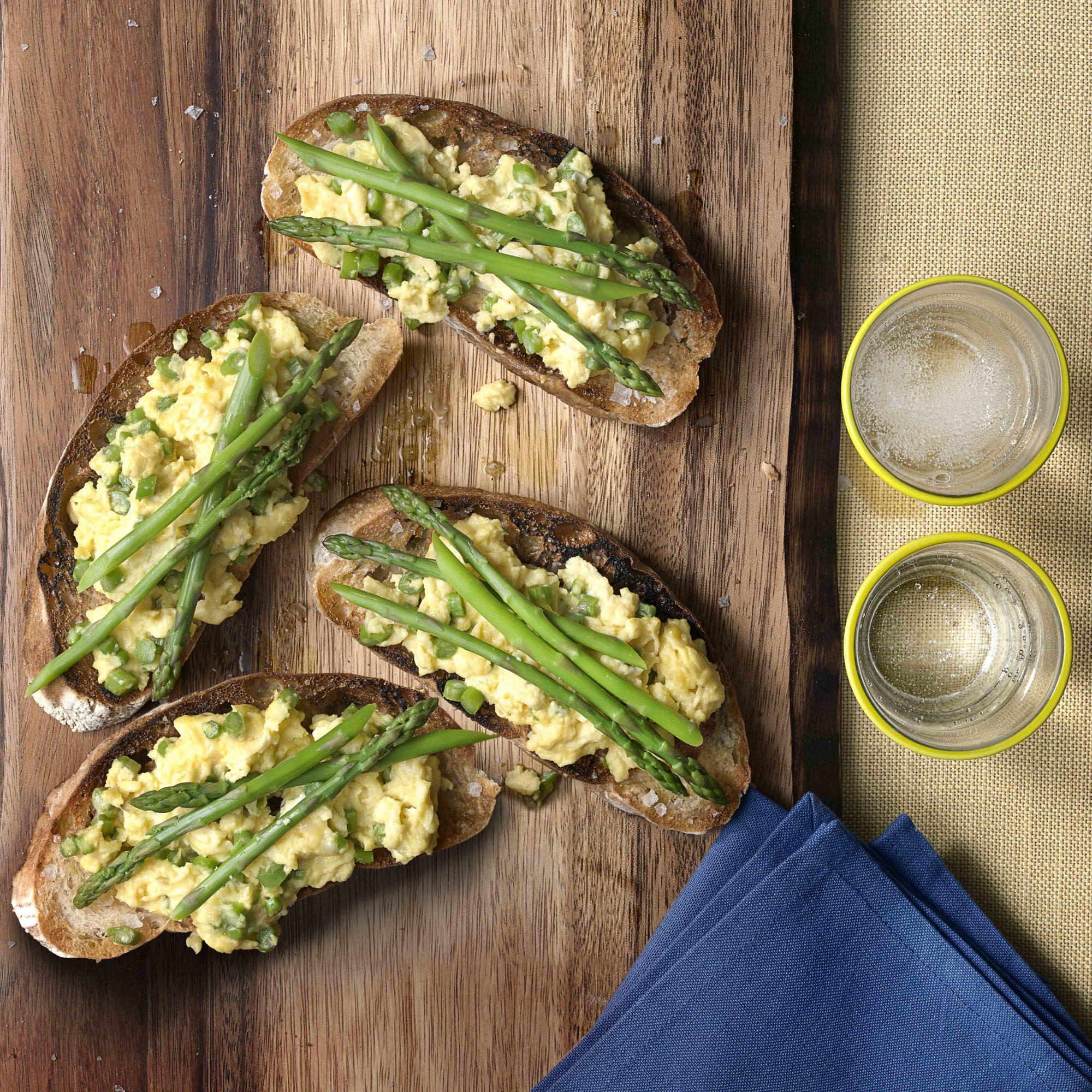 Tartine with Eggs & Asparagus
