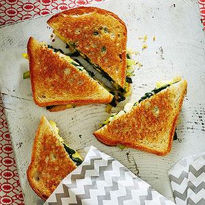 Spinach, Leek & Gruyére Toasties