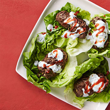 Beef and Zucchini Lettuce Wraps