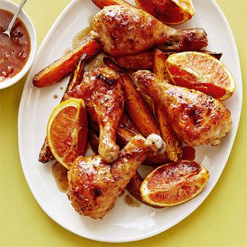 Orange-Chipotle Chicken & Sweet Potatoes