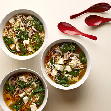 Tofu Ramen Soup with Spinach