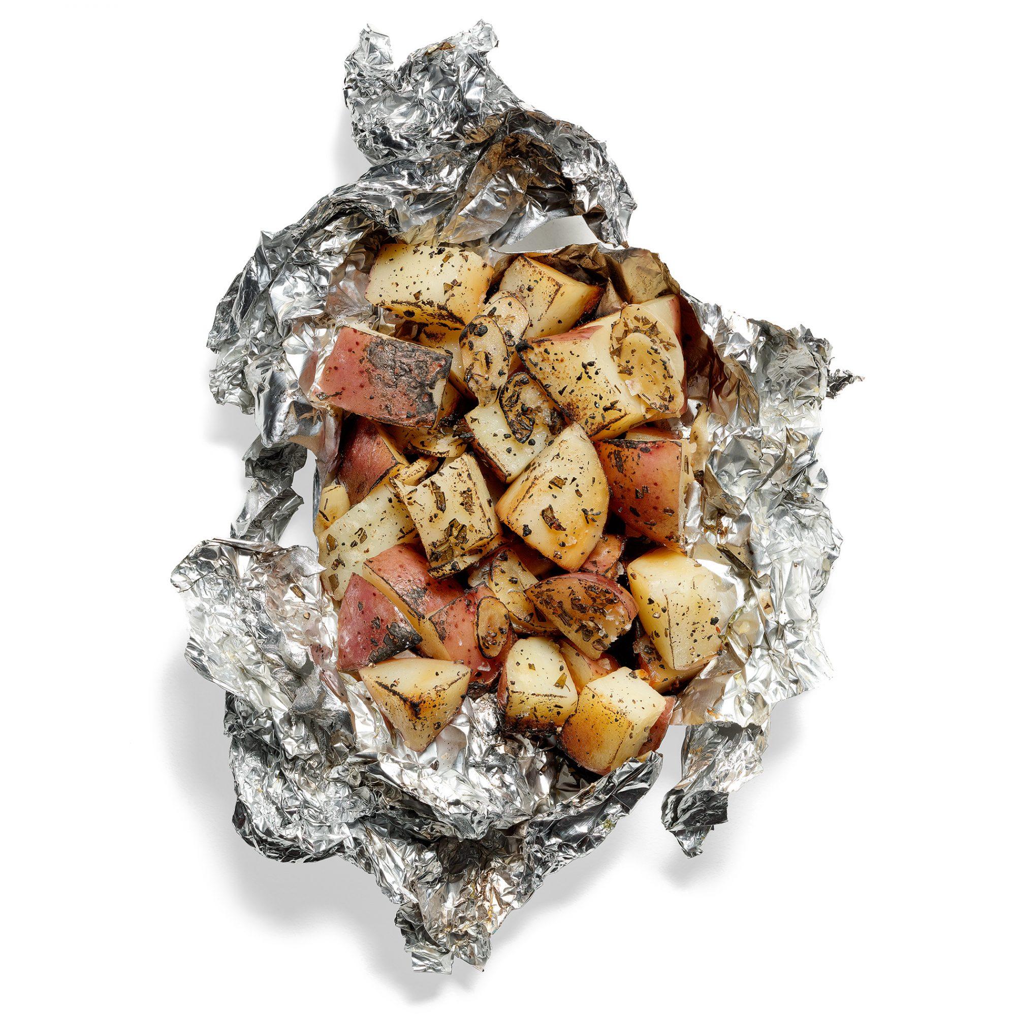 Potato, Garlic and Rosemary Packets