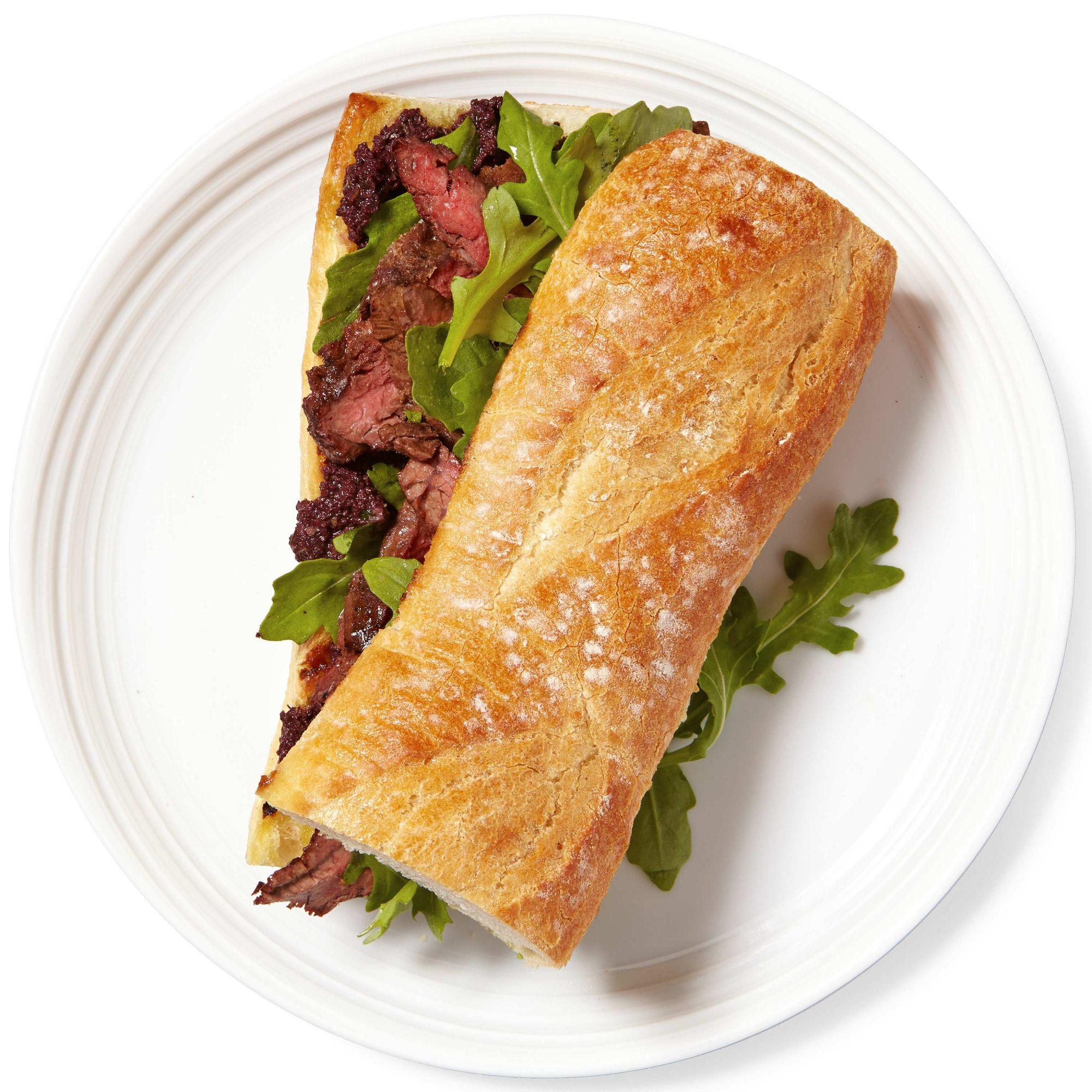 Steak & Olive Tapenade Sandwich