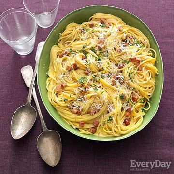 Carbonara-Style Pasta, Hold the Yolks