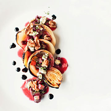 Roasted Onions and Buttered Beets with Blue Cheese