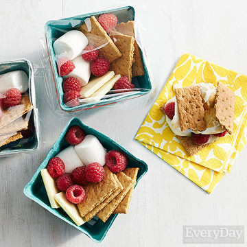 White Chocolate and Raspberry S'mores