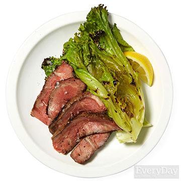 Grilled Steak & Escarole