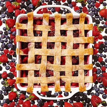 Mixed Berry Lattice Cobbler