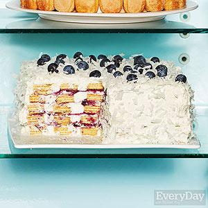 No-Bake Blueberry Coconut Cake