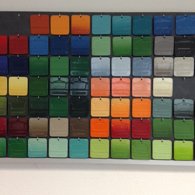 a portion of the color wall