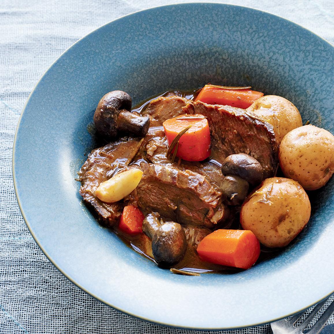 Italian Pot Roast with Potatoes & Carrots