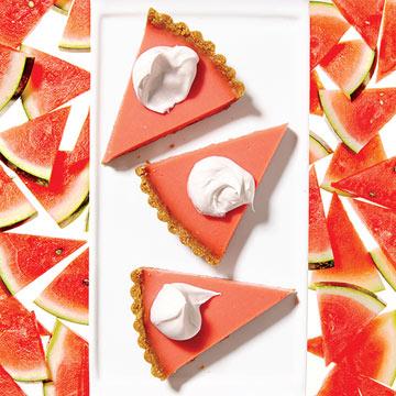 Watermelon Pudding Tart