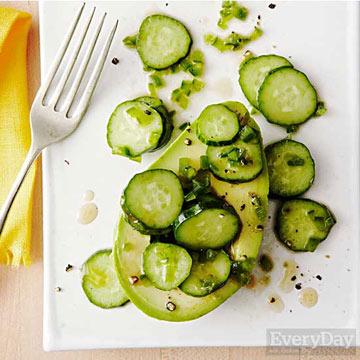 Spicy Avocado & Cucumber Bowls