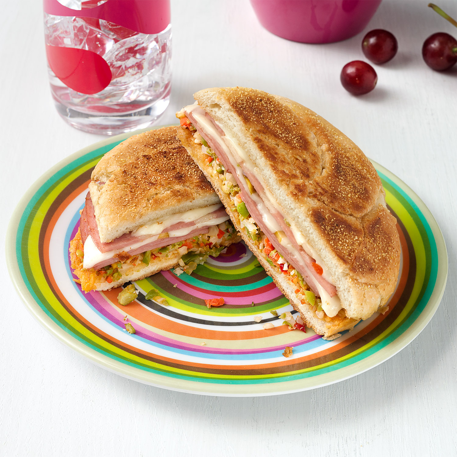 Fried Bologna Sandwiches with Olive Salad
