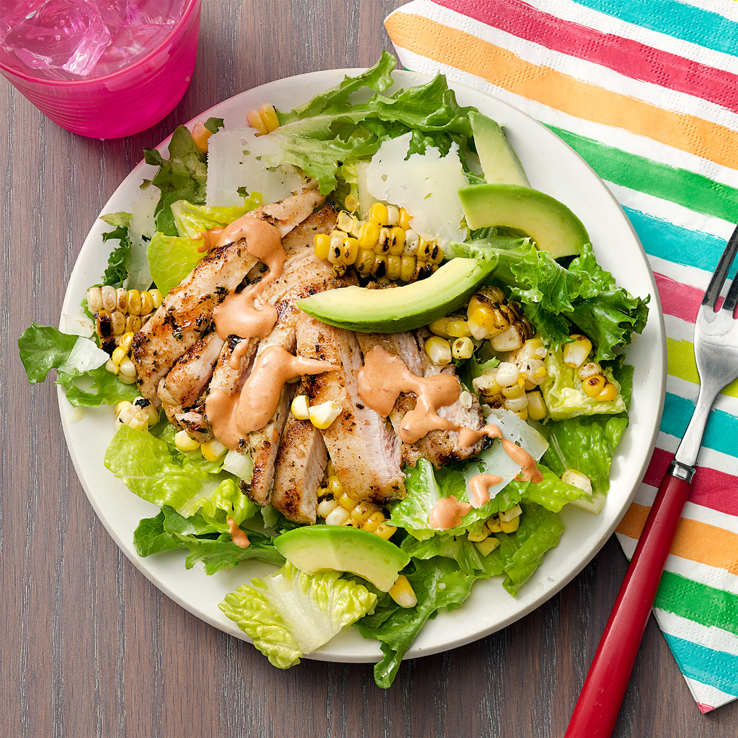Grilled Chicken & Corn Salad with Chipotle Crema