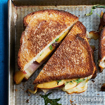 Peachy Grilled Cheese Sandwiches