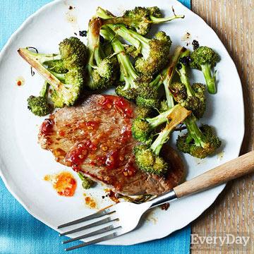 Sesame-Ginger Pork Chops & Broccoli