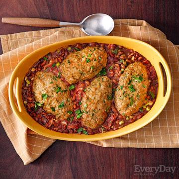 Mini Turkey Meat Loaves & Baked Beans