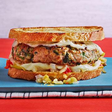 Sausage with Broccoli Rabe Patty Melts