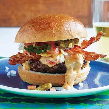 Tex-Mex Bacon Cheeseburgers