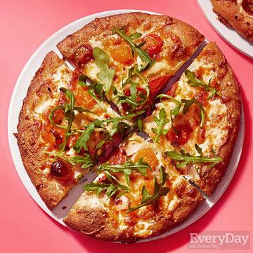 Three-Cheese Arugula Pizza