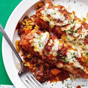 Beef & Pepper Jack Enchiladas