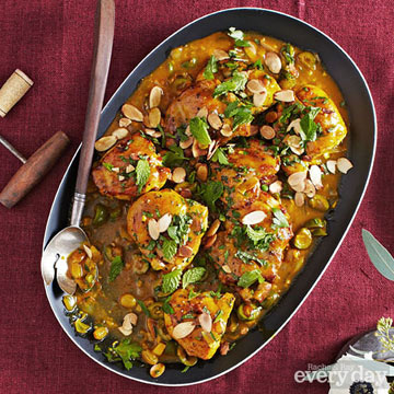 Andalusian-Style Chicken with Saffron & Green Olives