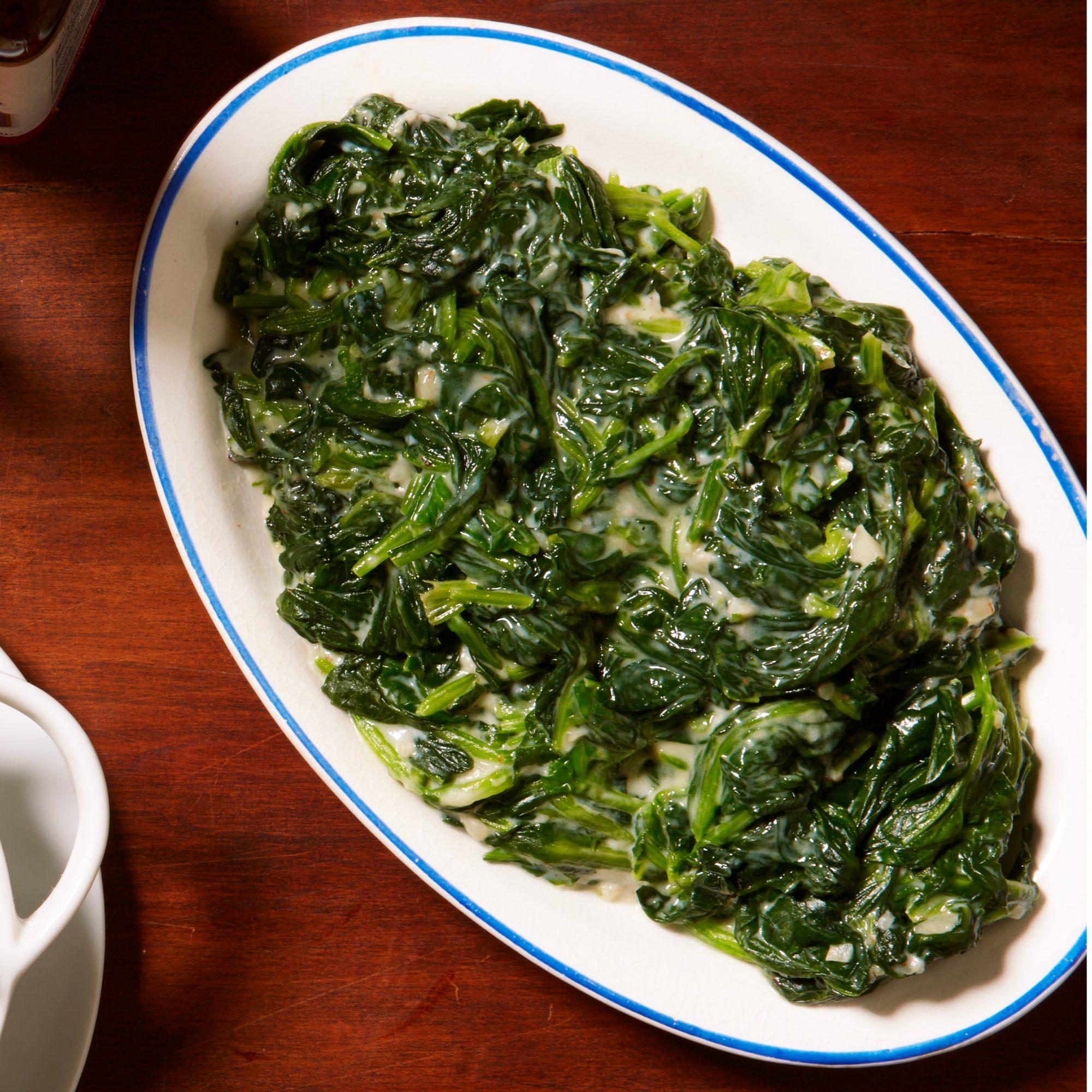 trim creamed spinach