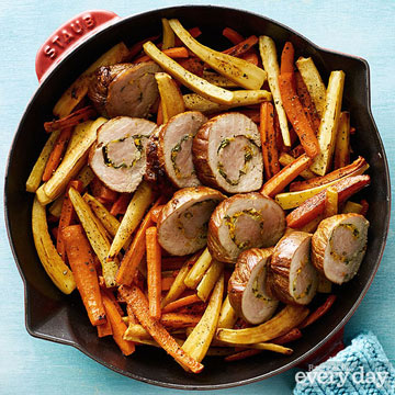 Easy Porchetta with Roasted Vegetables