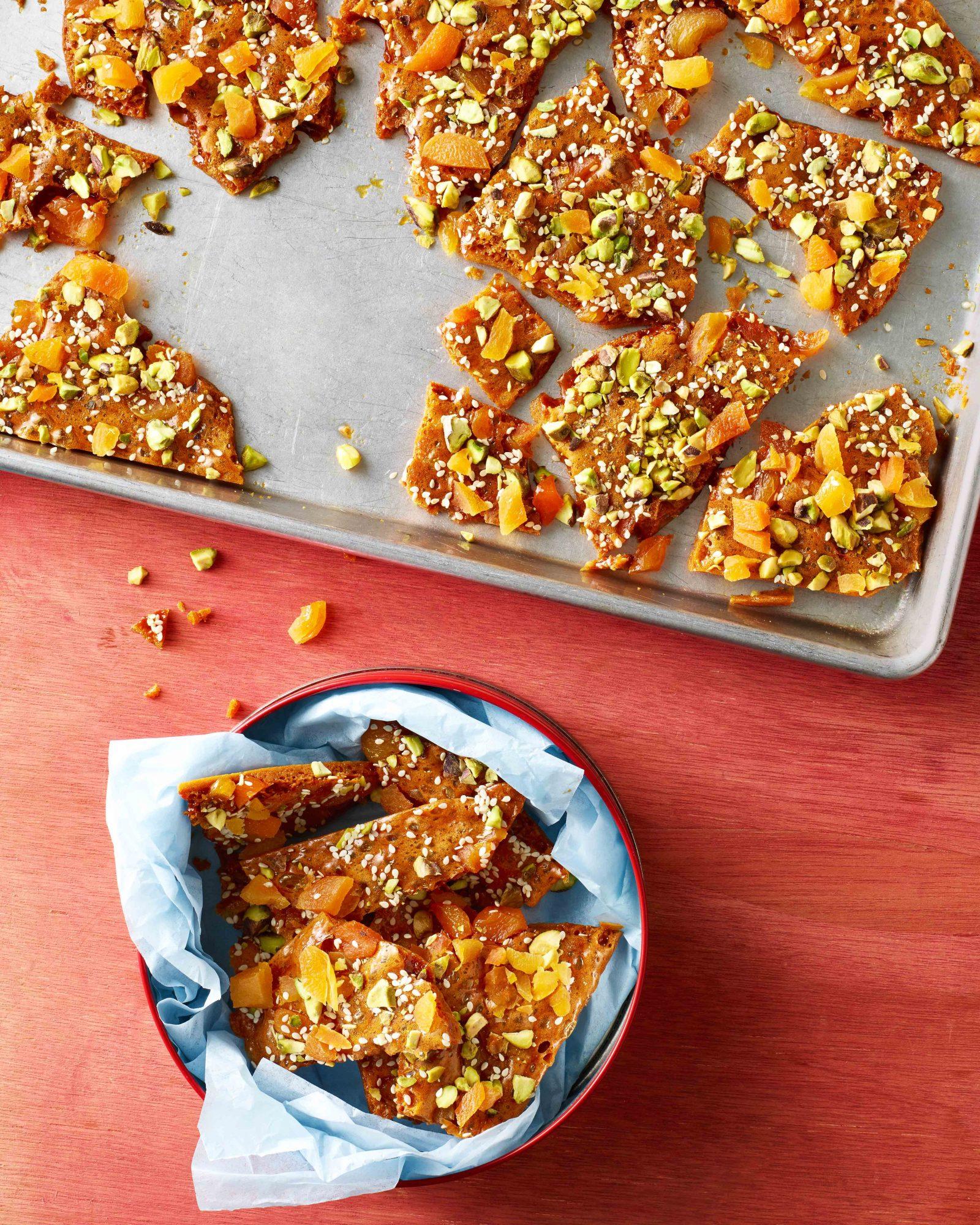 Pistachio, Apricot & Sesame Brittle