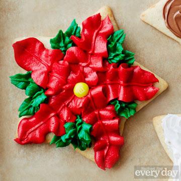 Poinsettia cookie
