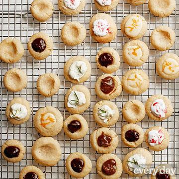 Vanilla Thumbprint Cookies