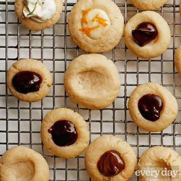 Vanilla Thumbprint Cookies with Mocha Melt Filling