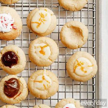 Vanilla Thumbprint Cookies with Orange Cream Filling