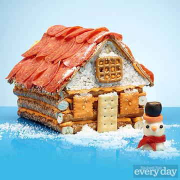 Rustic Log Cabin Gingerbread House