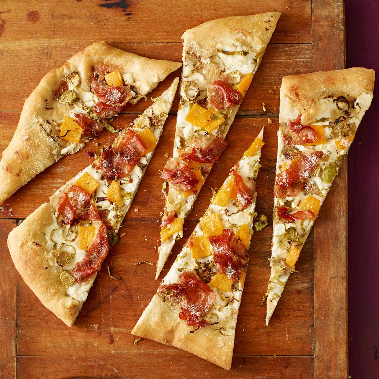 Winter Veggie & Prosciutto Pizza
