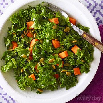 Southwestern Kale & Sweet Potato Salad