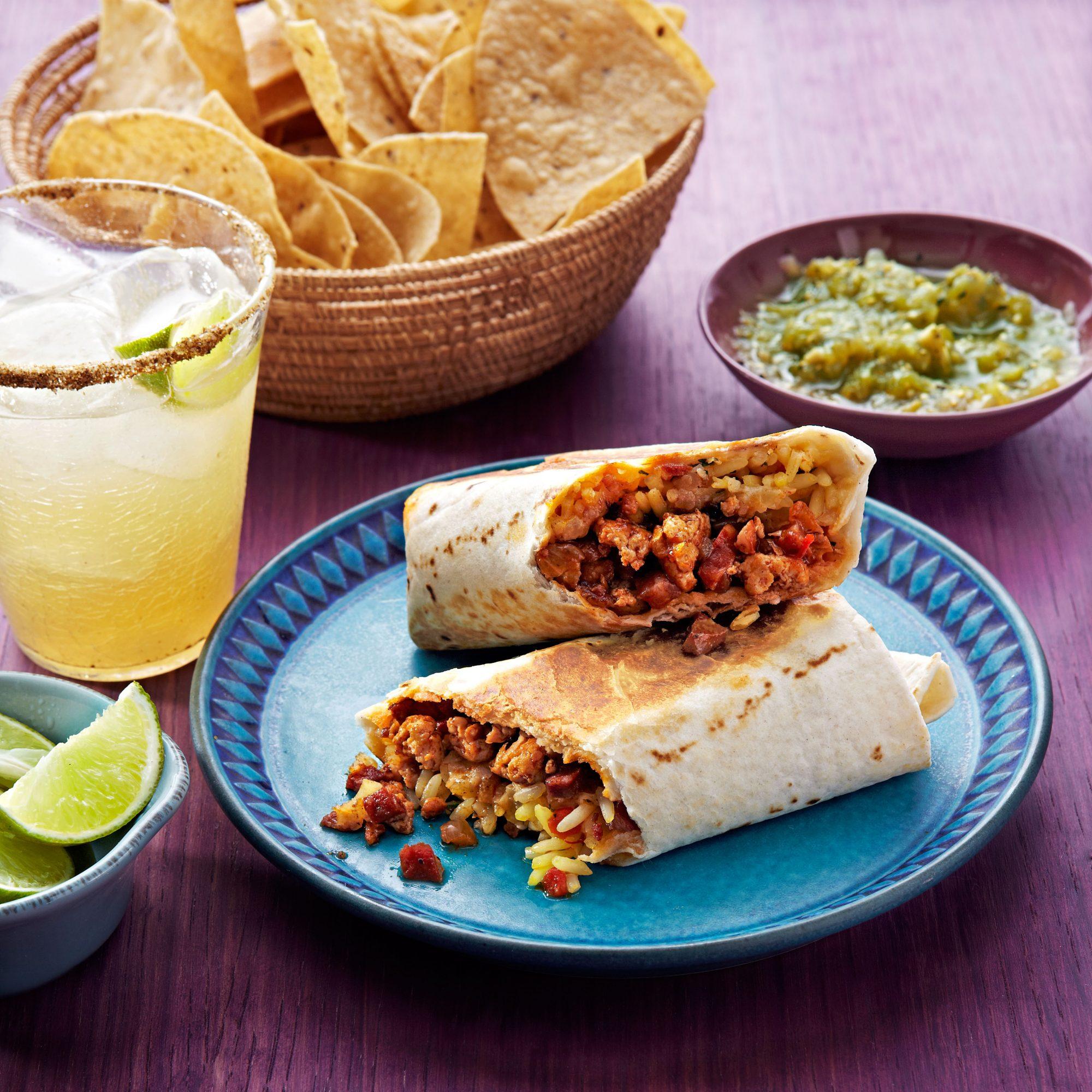 Arroz con Pollo & Chorizo Burritos