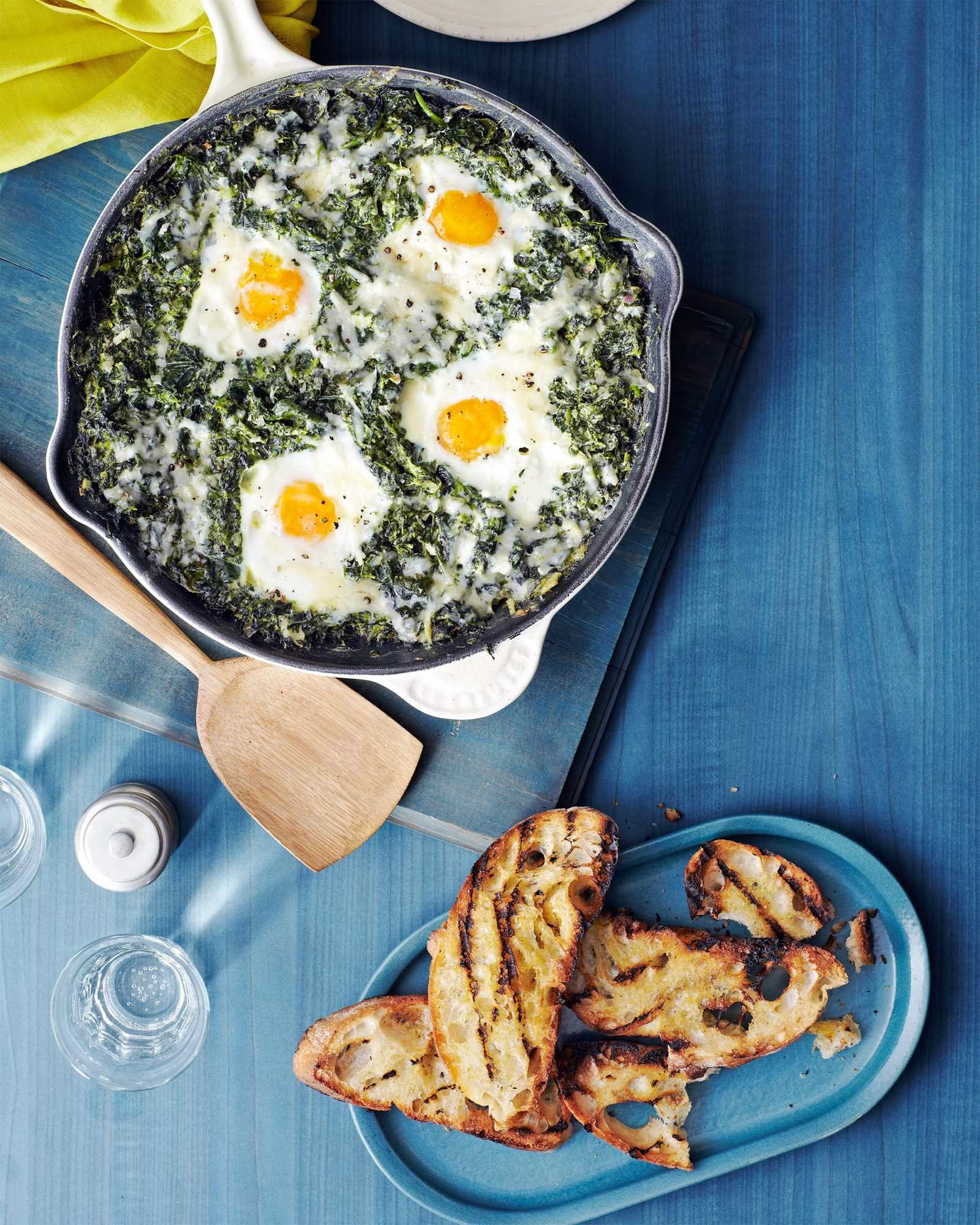 Creamed Spinach Baked Eggs